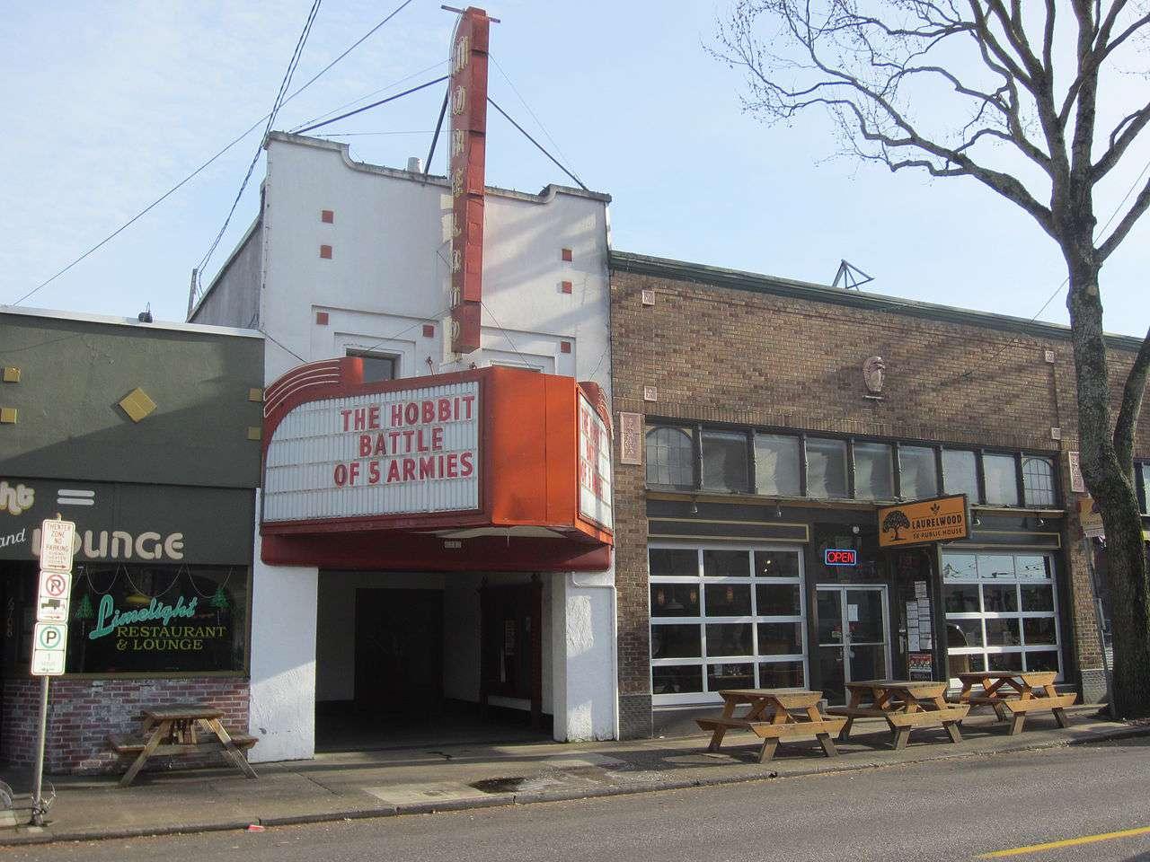 Moreland Theater in the Sellwood neighborhood of southeast Portland, Oregon