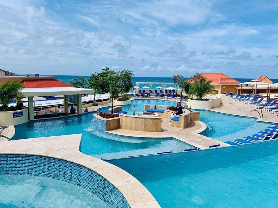 Multi level pools at Divi little Bay Resort