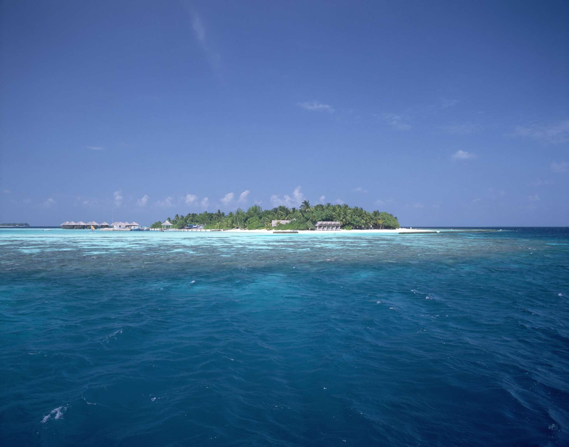 View of Baros island in the Maldives