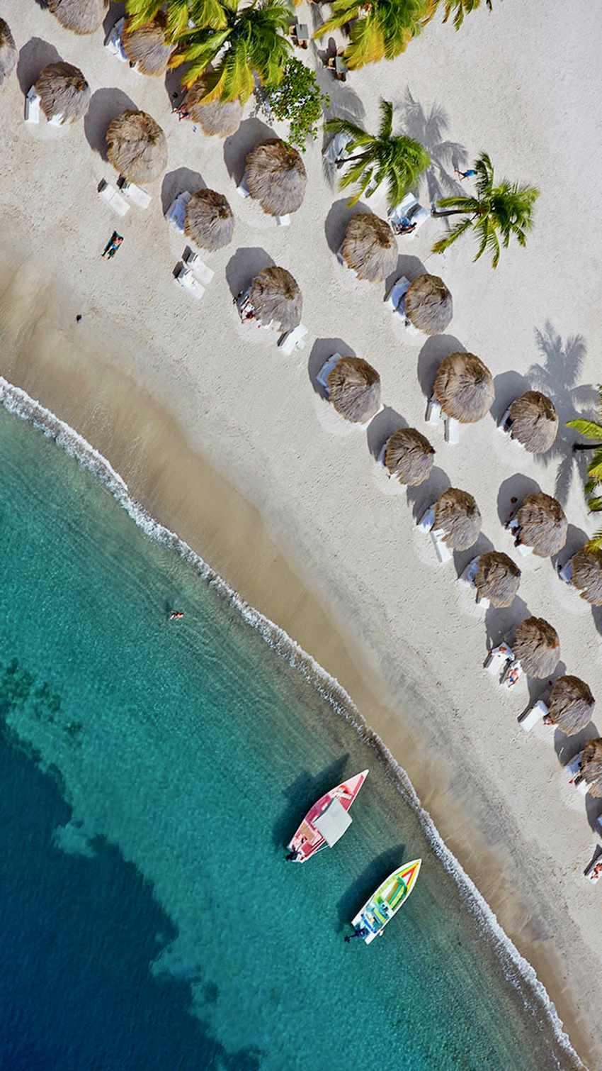 Life's a beach on St Lucia in the Caribbean