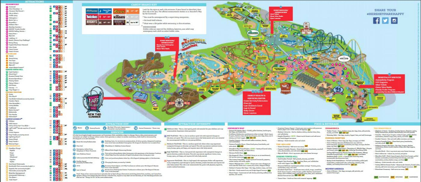 Map Of Hershey Park Maps of Hershey and Hersheypark, Pennsylvania