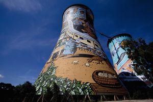 Wide angle image of Orlando Power Station, Soweto