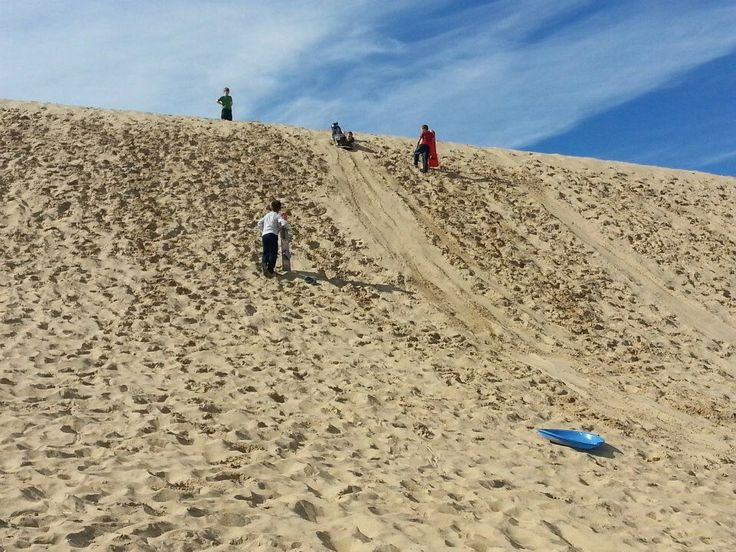 Sand Sledding in the outer banks
