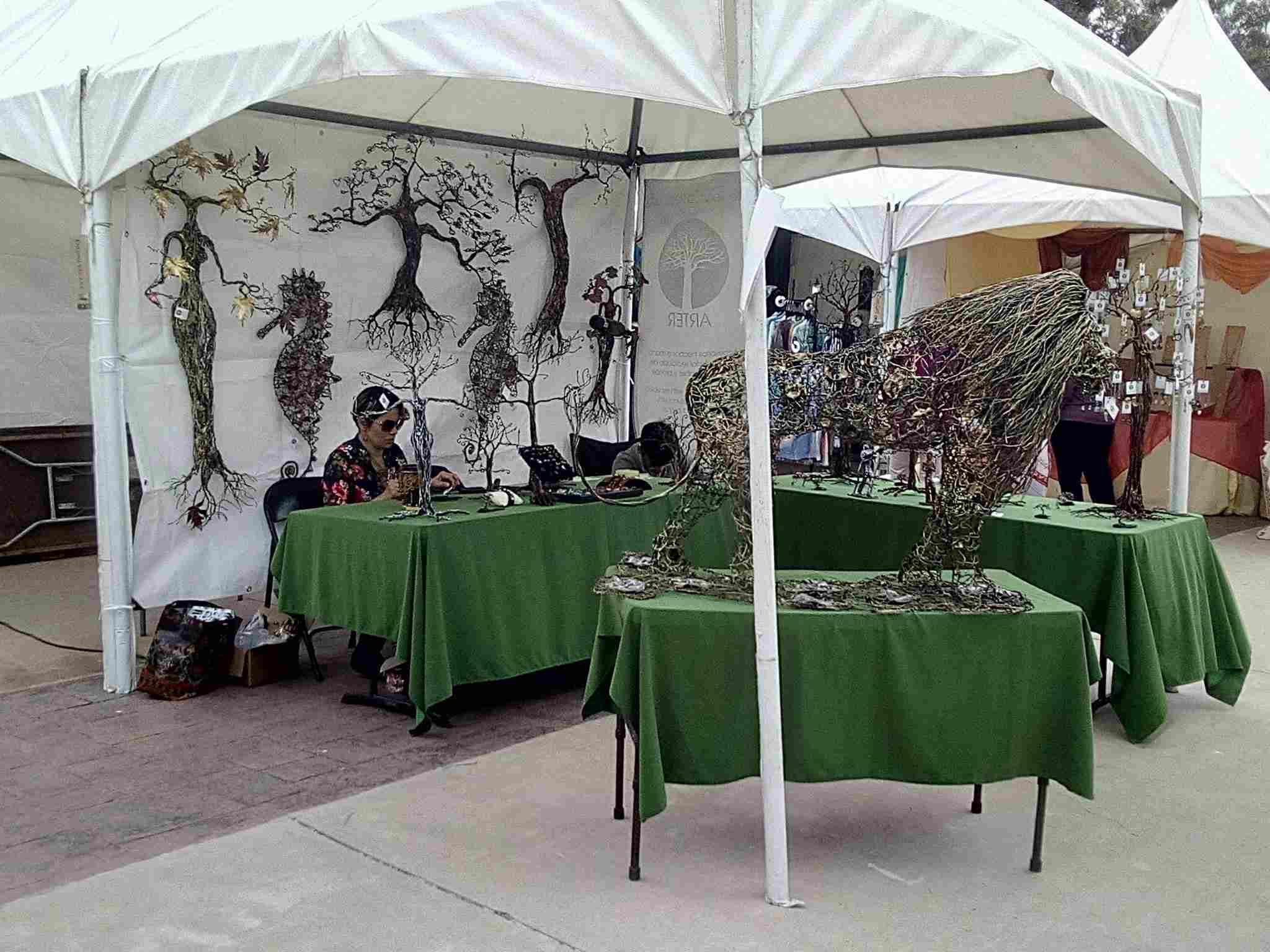 A stall at the Rosarito Art Festival