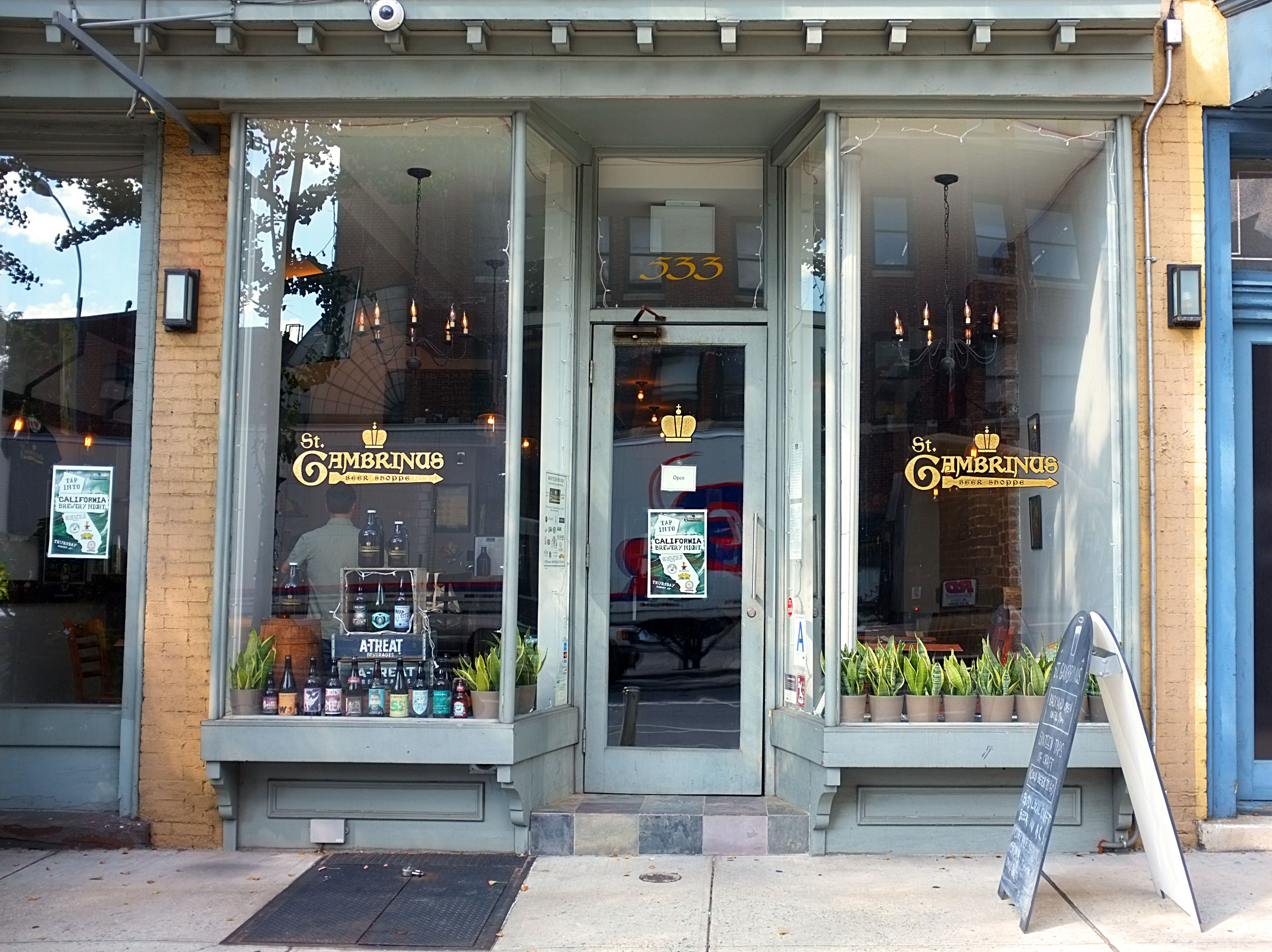 The storefront at St. Gambrinus