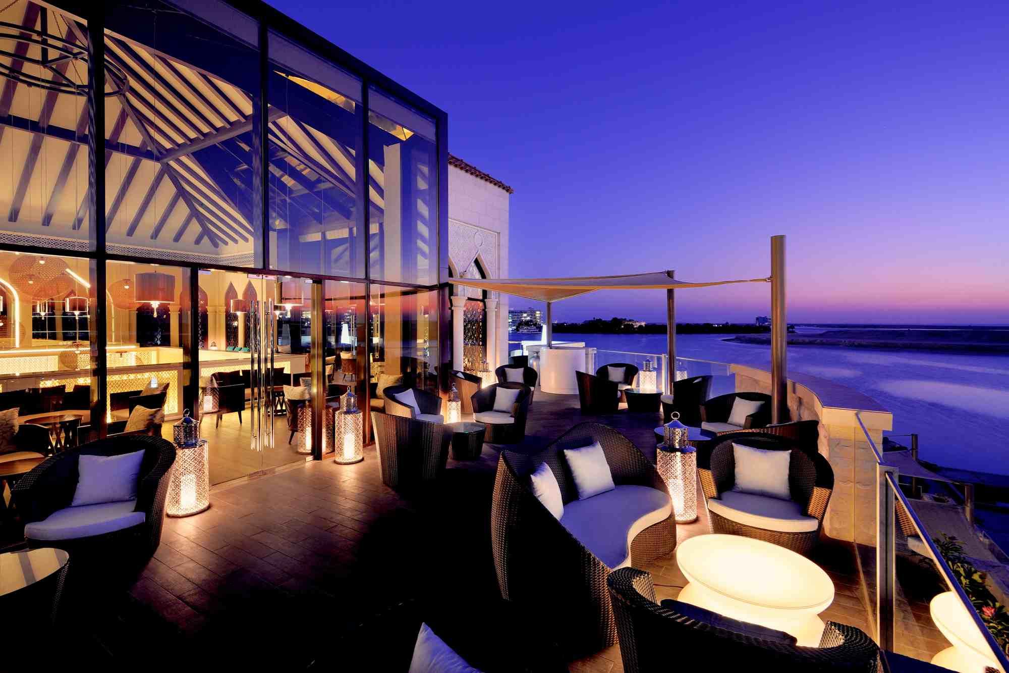 Marina in the evening at InterContinental Hotel Abu Dhabi