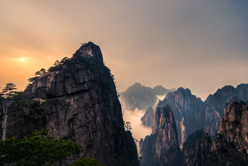 Huangshan with Sea of Clouds, Anhui Province, China