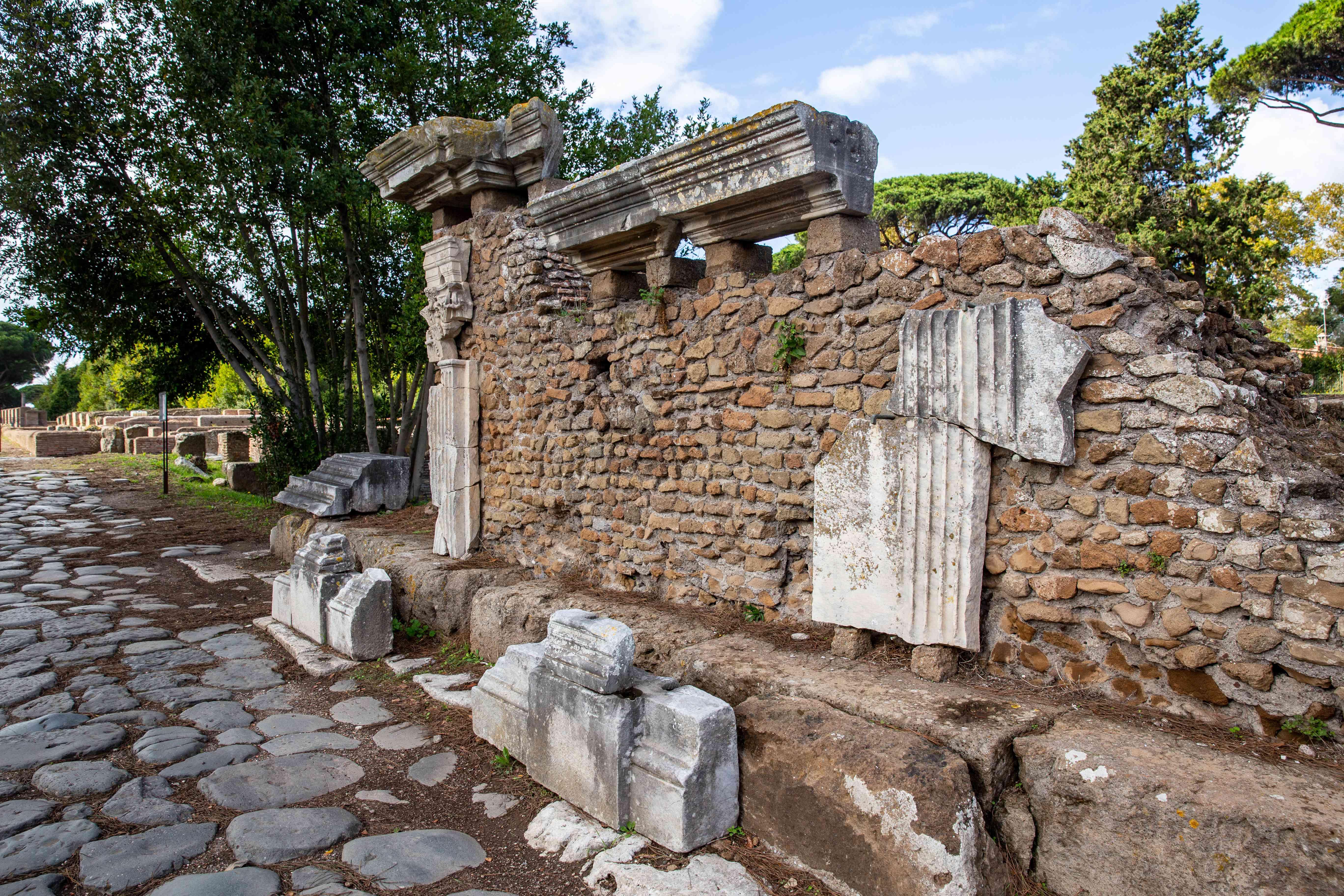 Ostia Antica in Rome, Italy