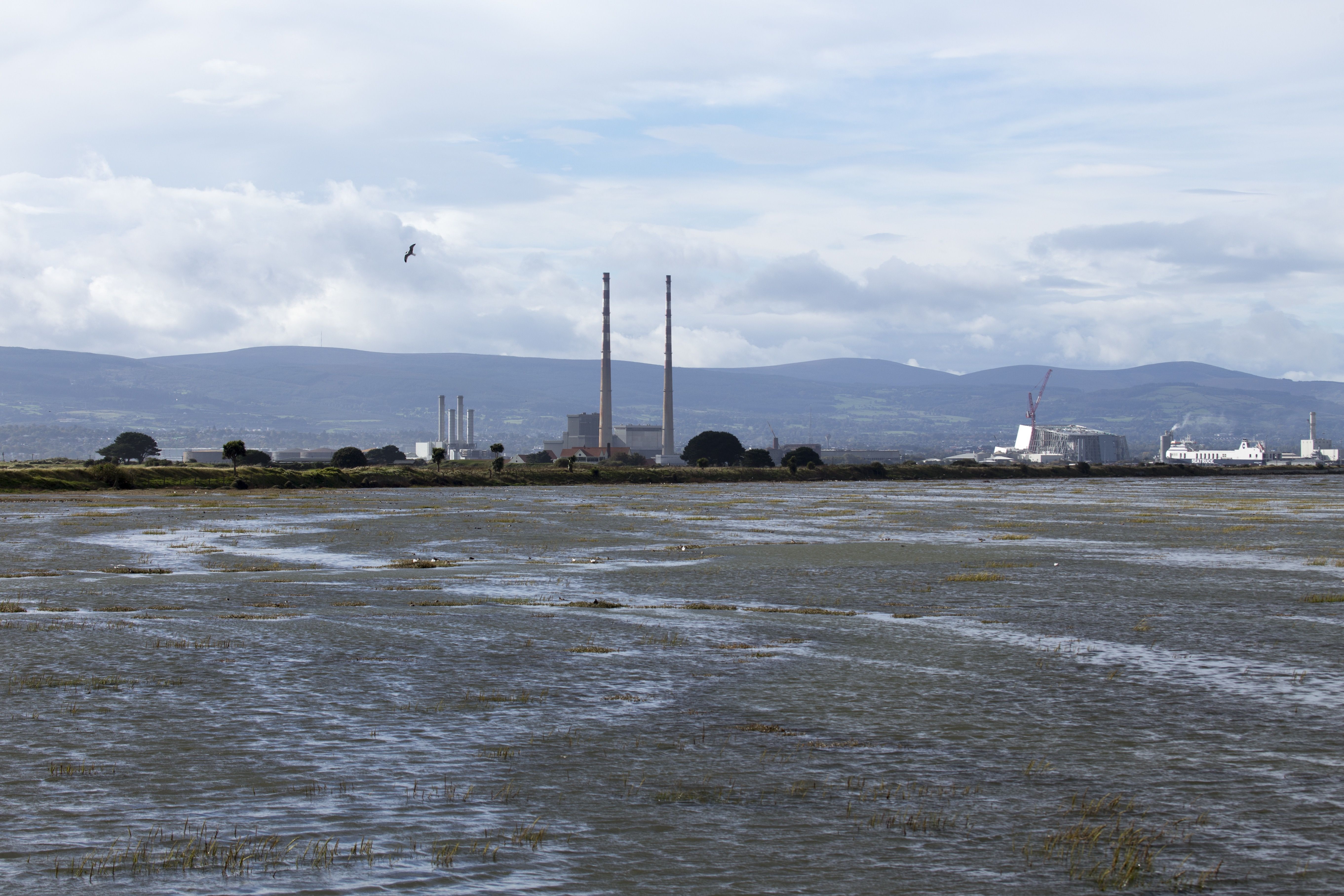 View of Poolbeg Towers from Clontarf