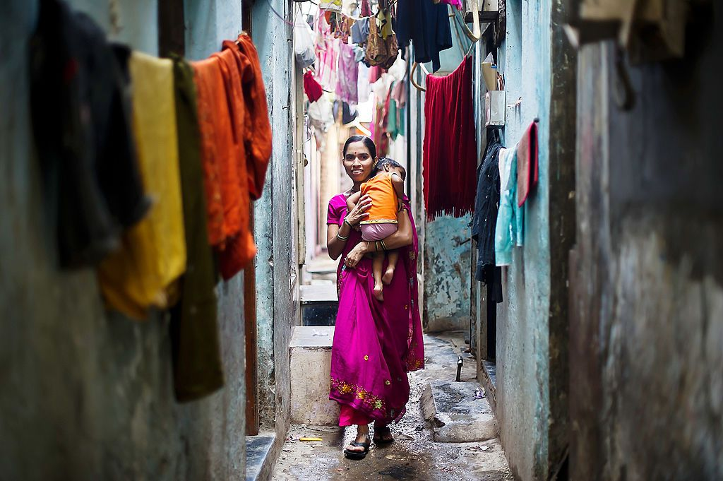 Inside Dharavi.