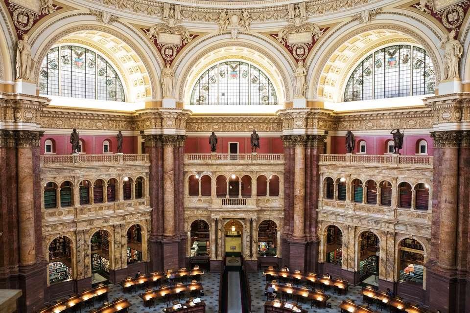 Interior de la Biblioteca del Congreso