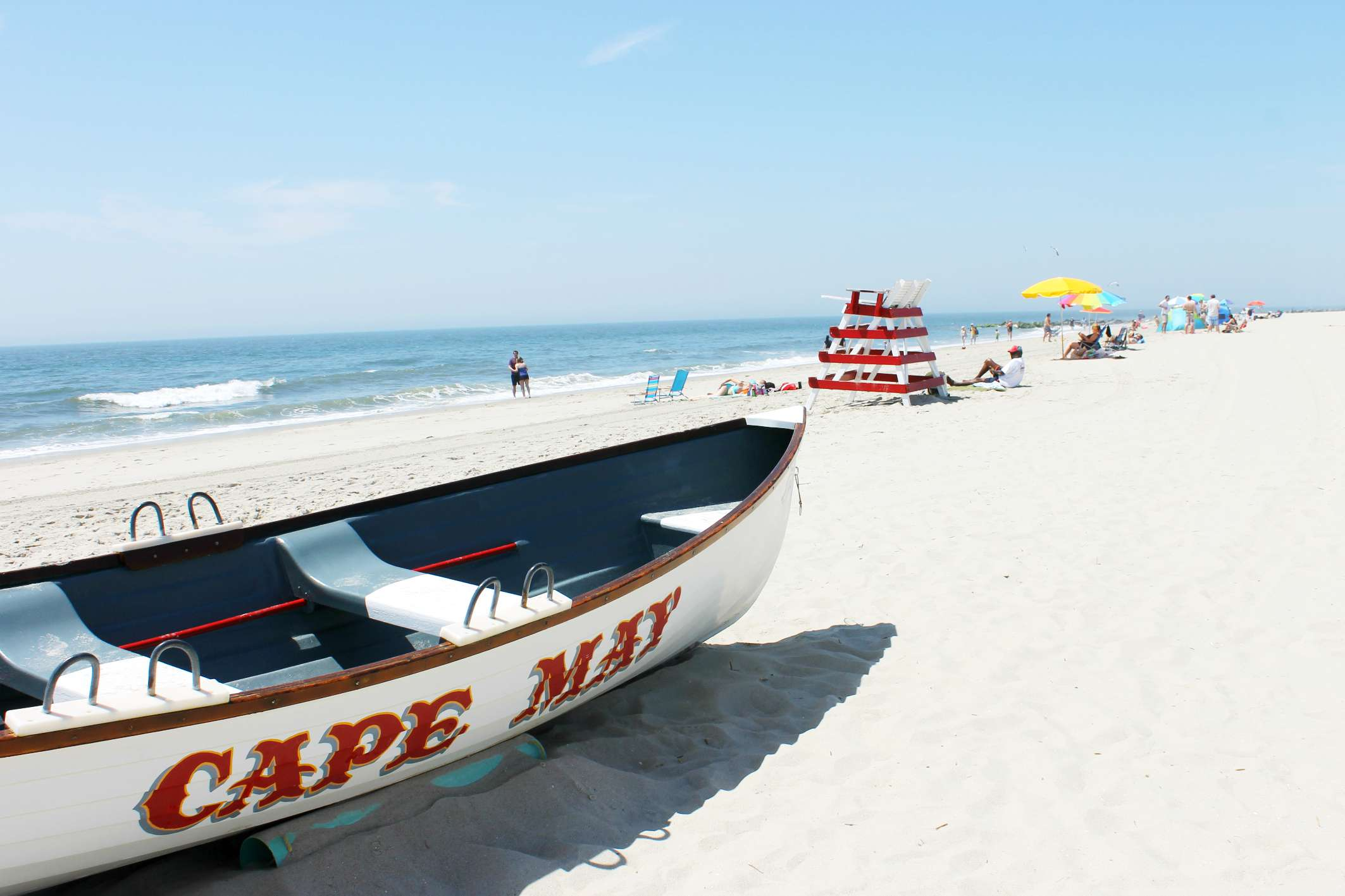 A Boat On The Beach In Cape May New Jersey