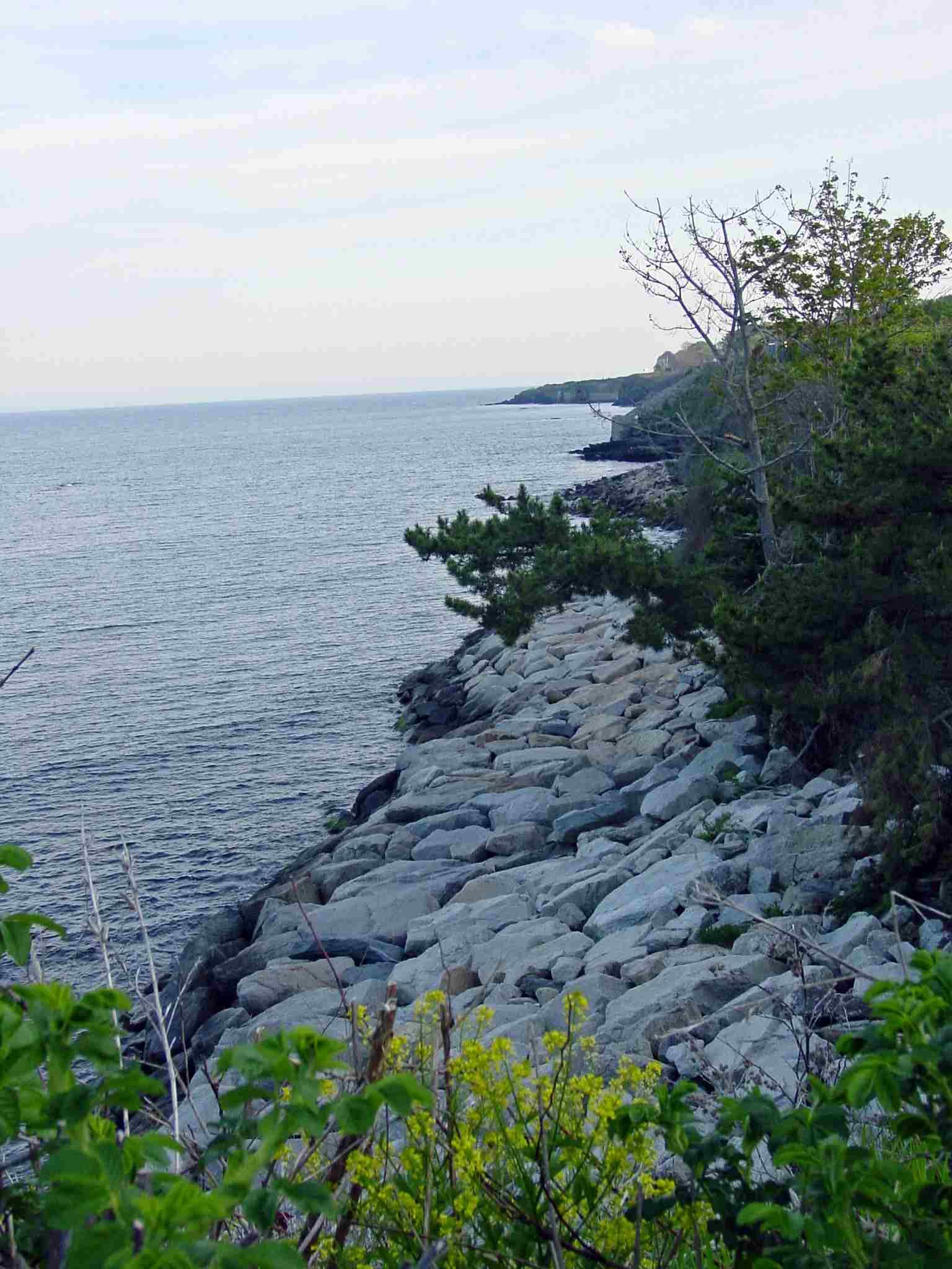 Newport Rhode Island Rocky Coastline View from the Cliff Walk