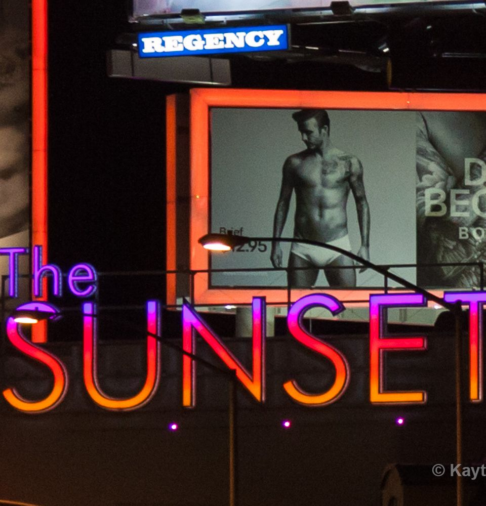 The Sunset Strip in West Hollywood, CA