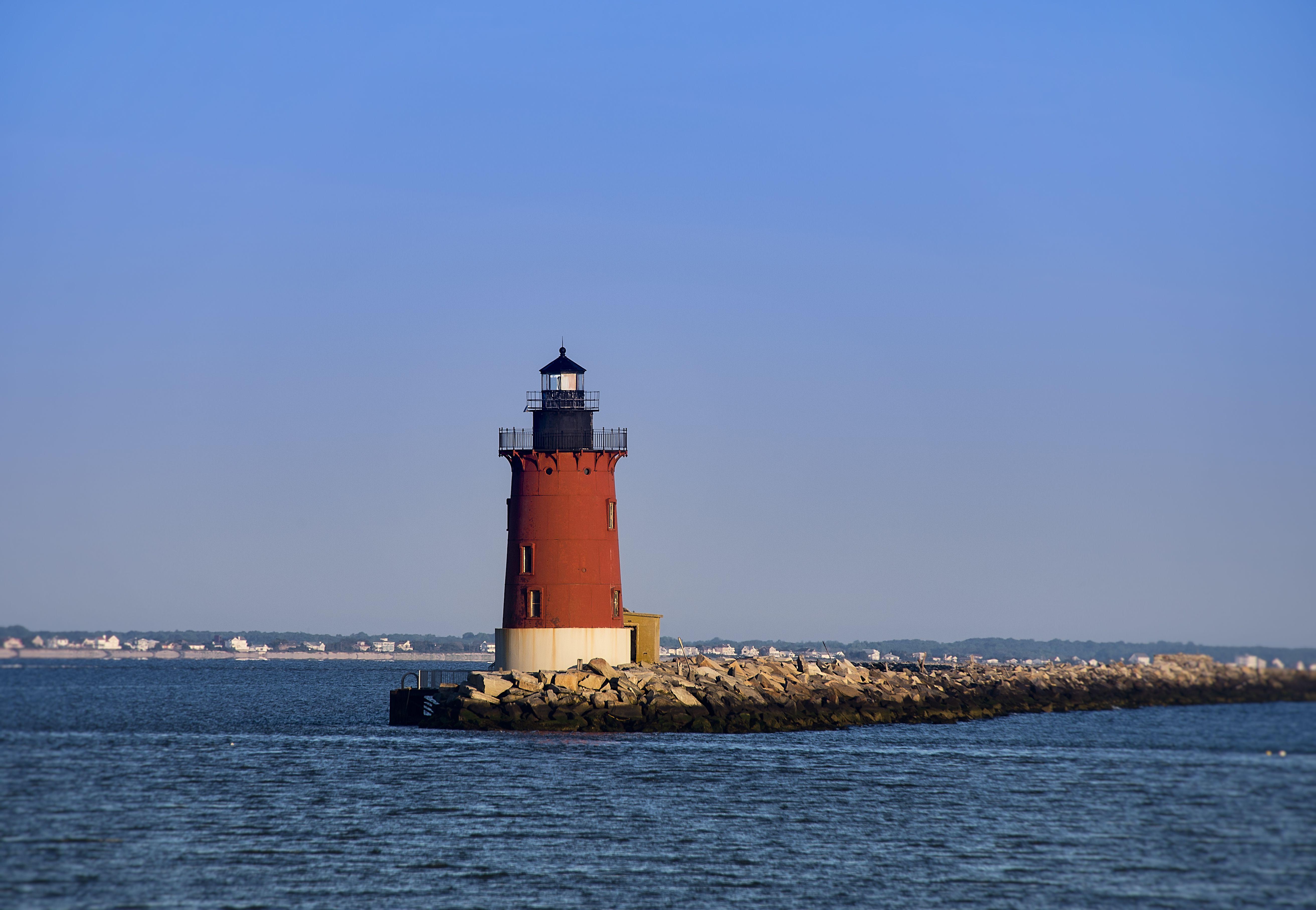 Delaware Breakwater Lighthouse in Lewes, Delaware