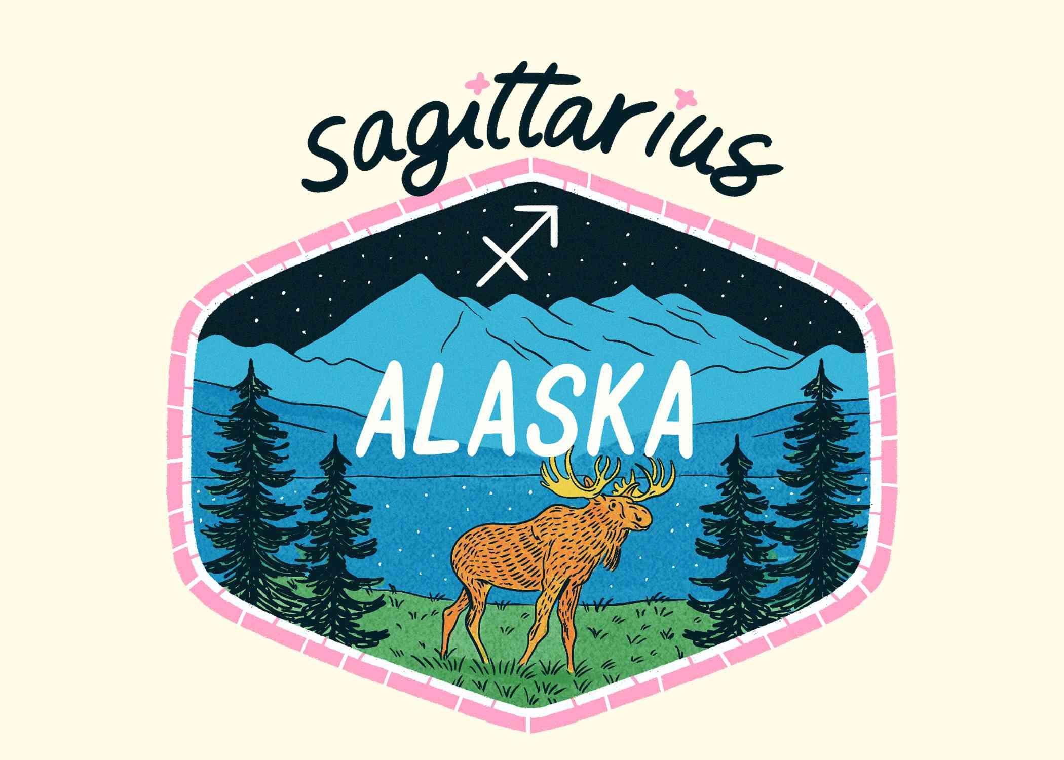 An illustration of Alaska for Sagittarius