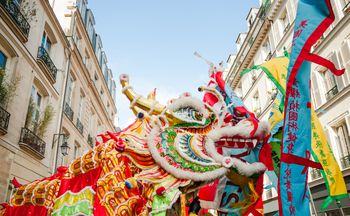 chinese new year dragon in paris