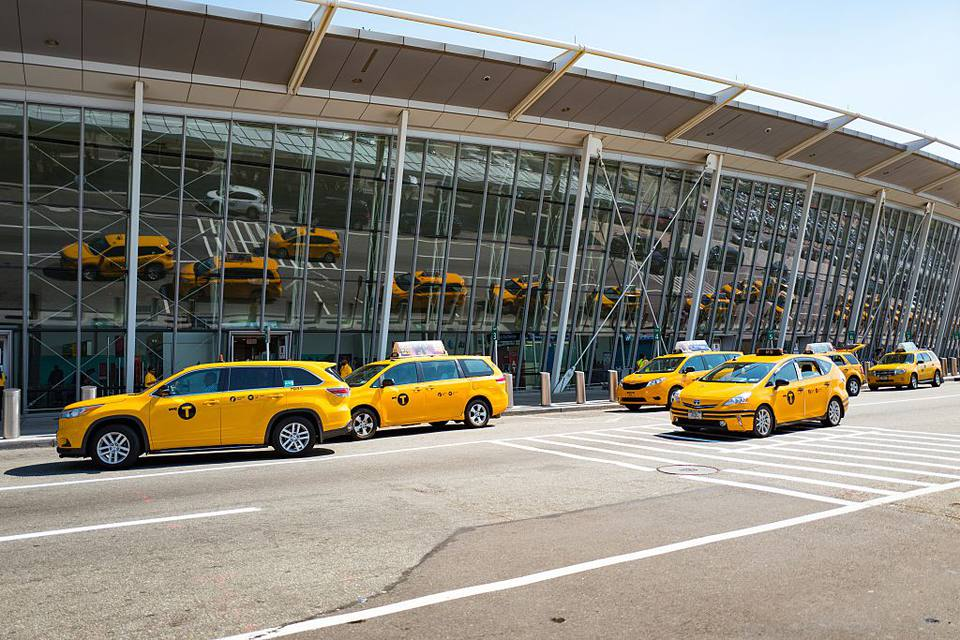 Taxis at Newark Airport