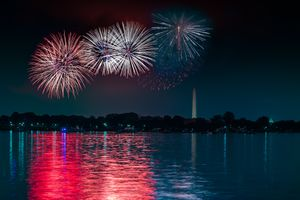 Fireworks in DC over the Potomac River