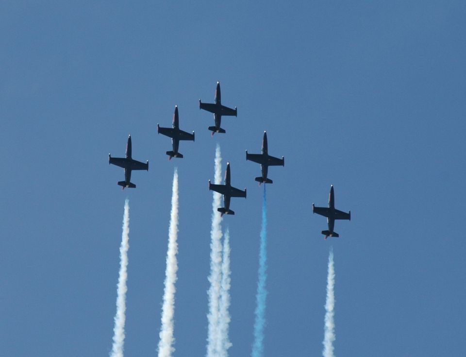 Patriots Jet Team performing at the Reno National Championship Air Races.