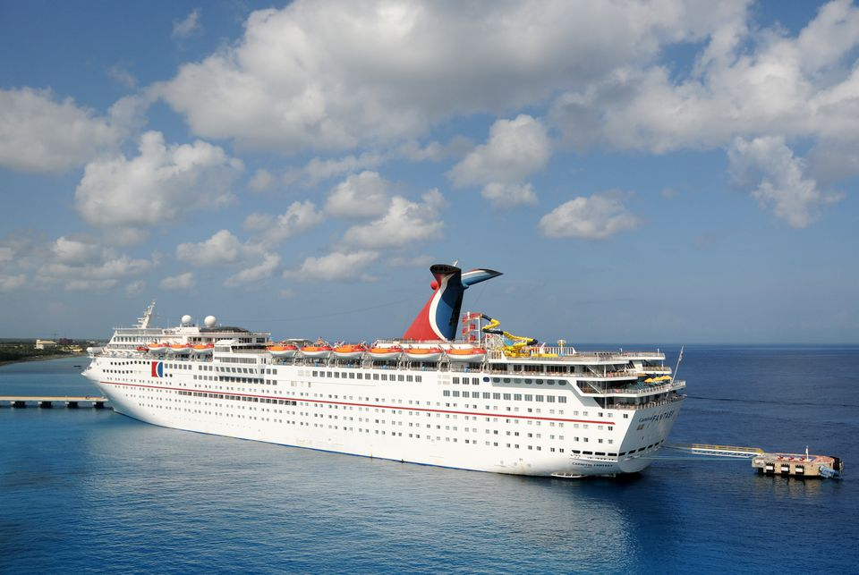 Carnival Fantasy cruise ship in Cozumel