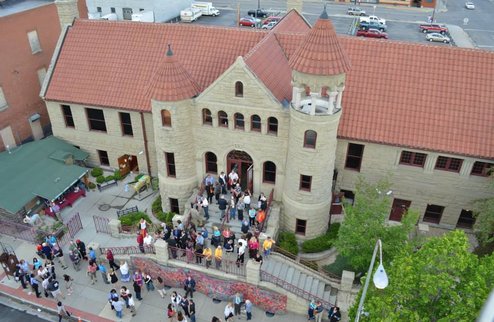 Aerial view of the Western Heritage Center in Montana