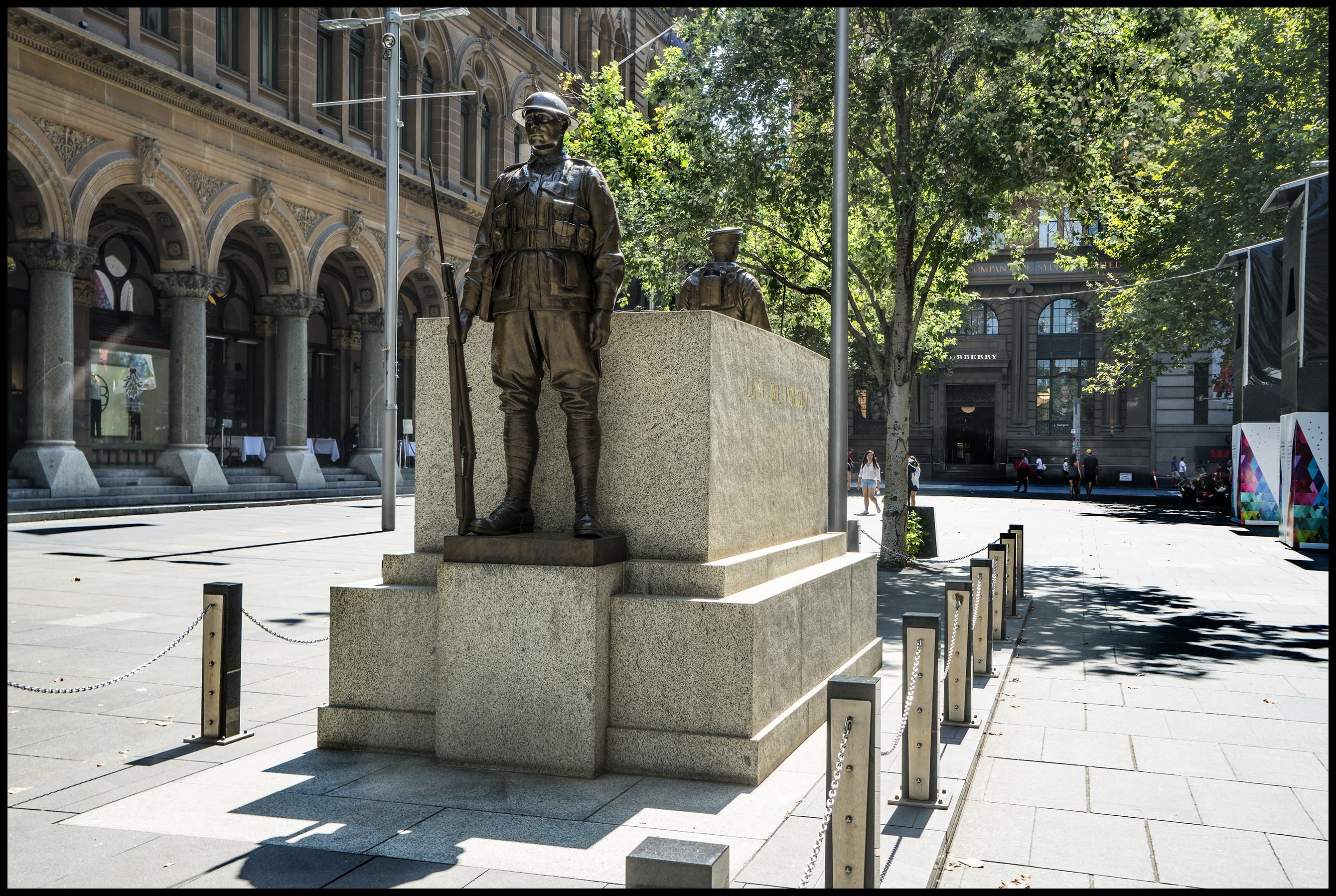 Sydney Cenotaph found at Martin Place.