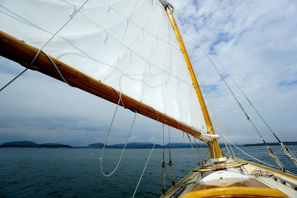 Sailing on a traditional Friendship Sloop