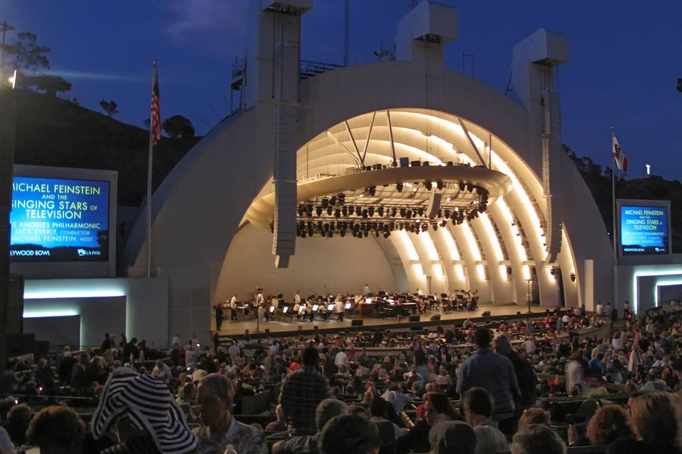 Concert Crowd at the Hollywood Bowl