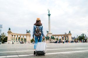 Tourist woman visiting Budapest