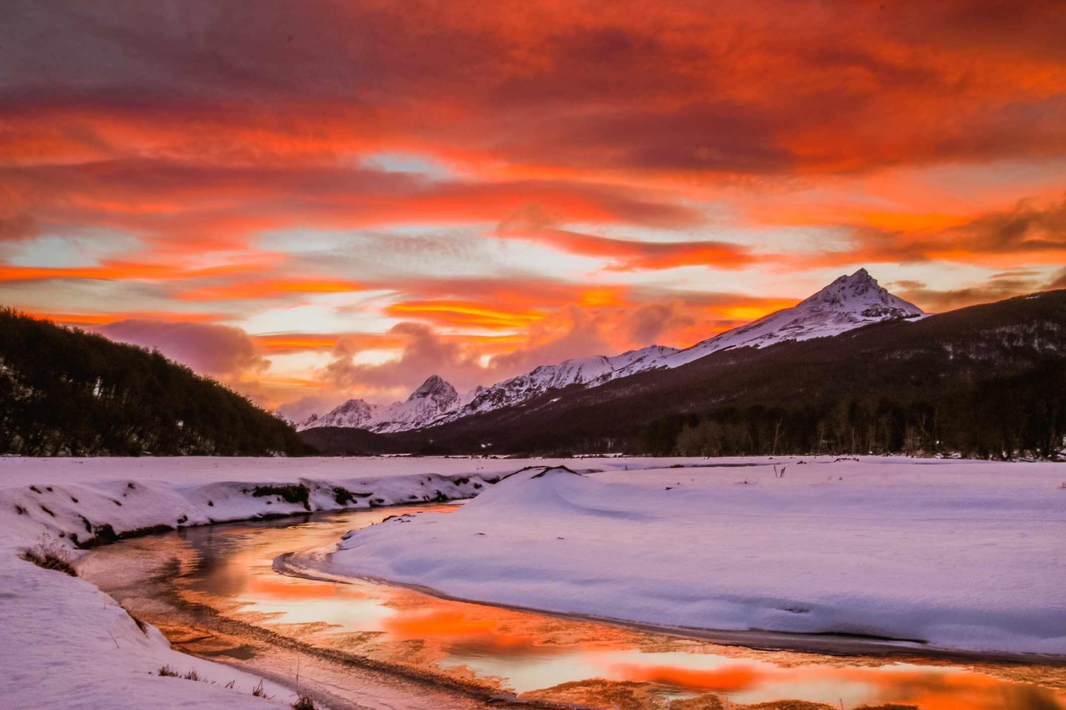 Tierra del Fuego at Sunset