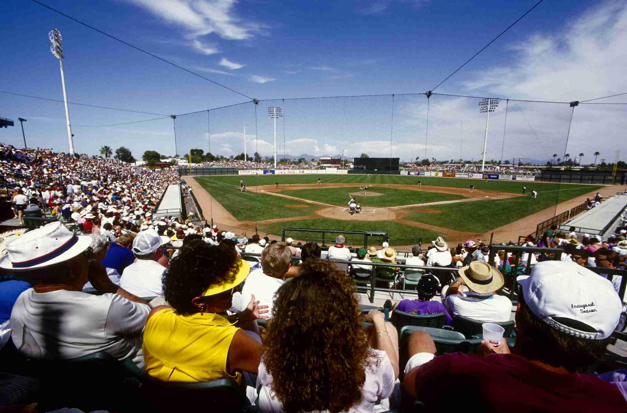 Spring training baseball at Scottsdale Stadium, Arizona