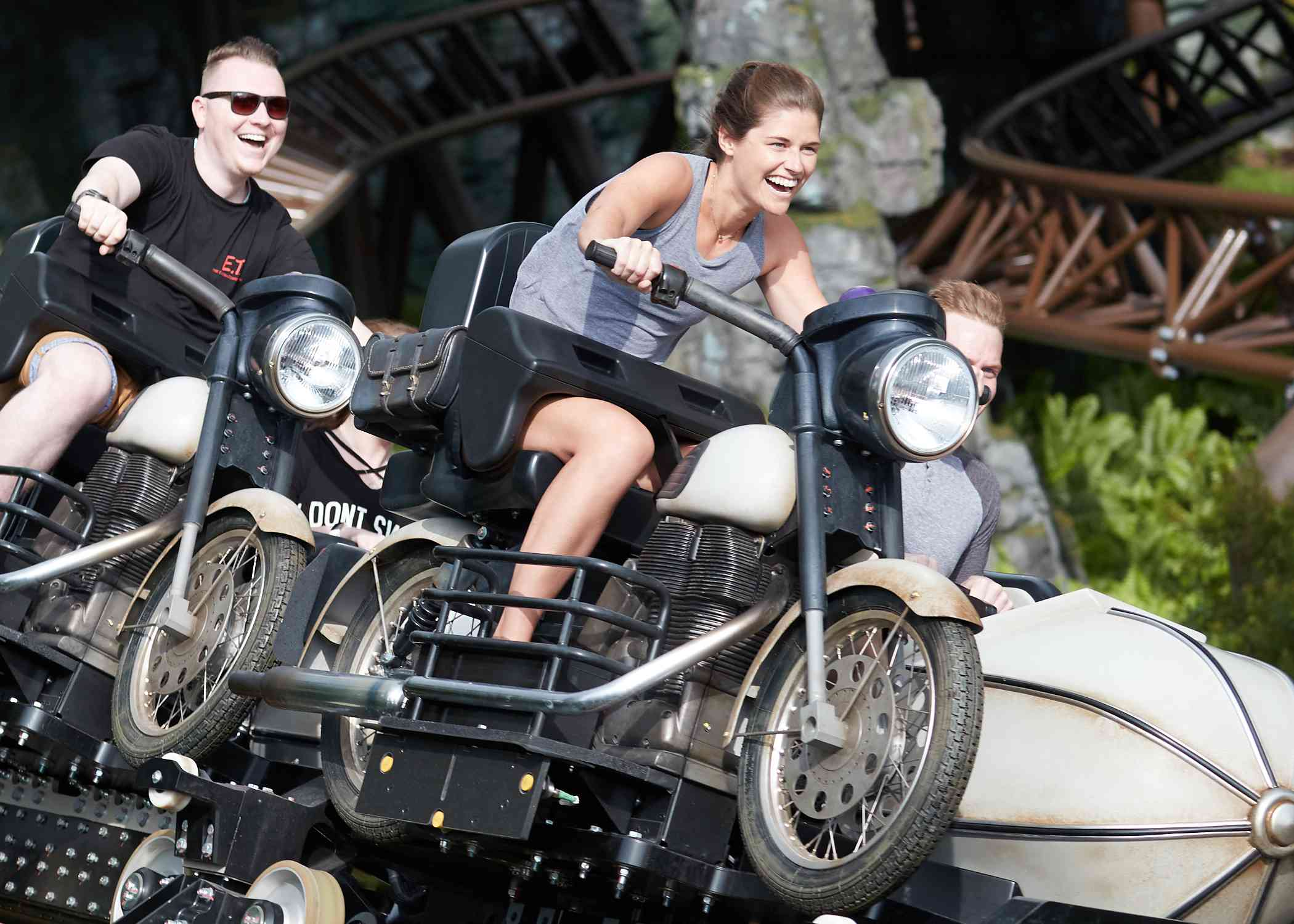 Jinetes en motocicletas Hagrid's Magical Creatures Motorbike Adventure