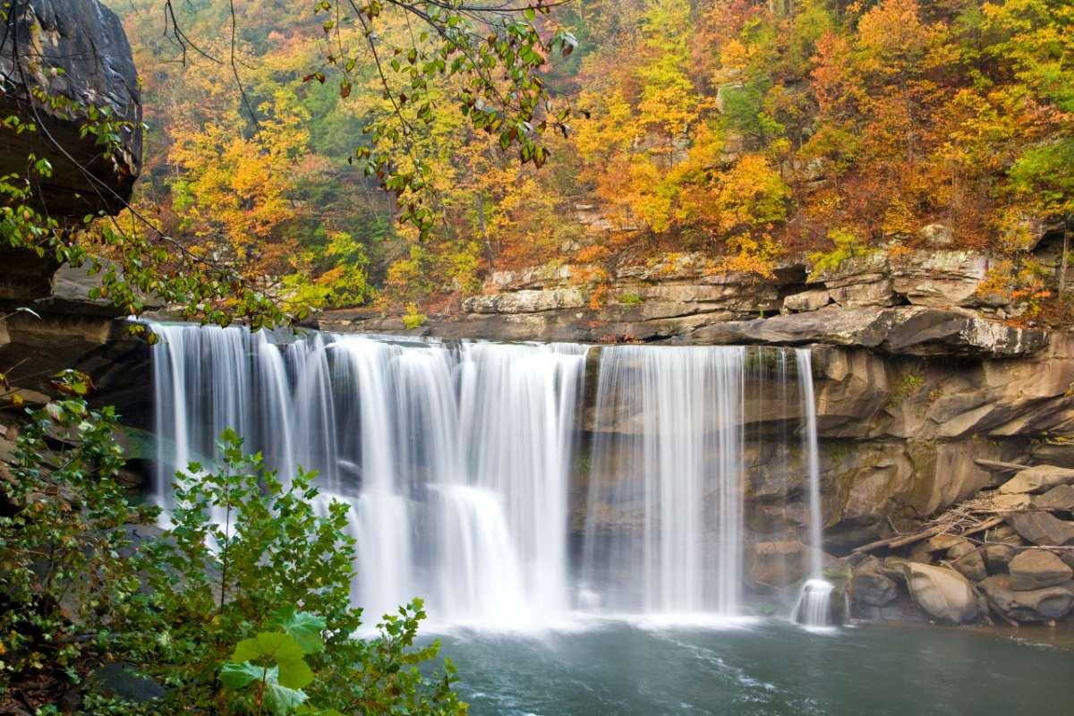 Fall at Cumberland Falls Kentucky