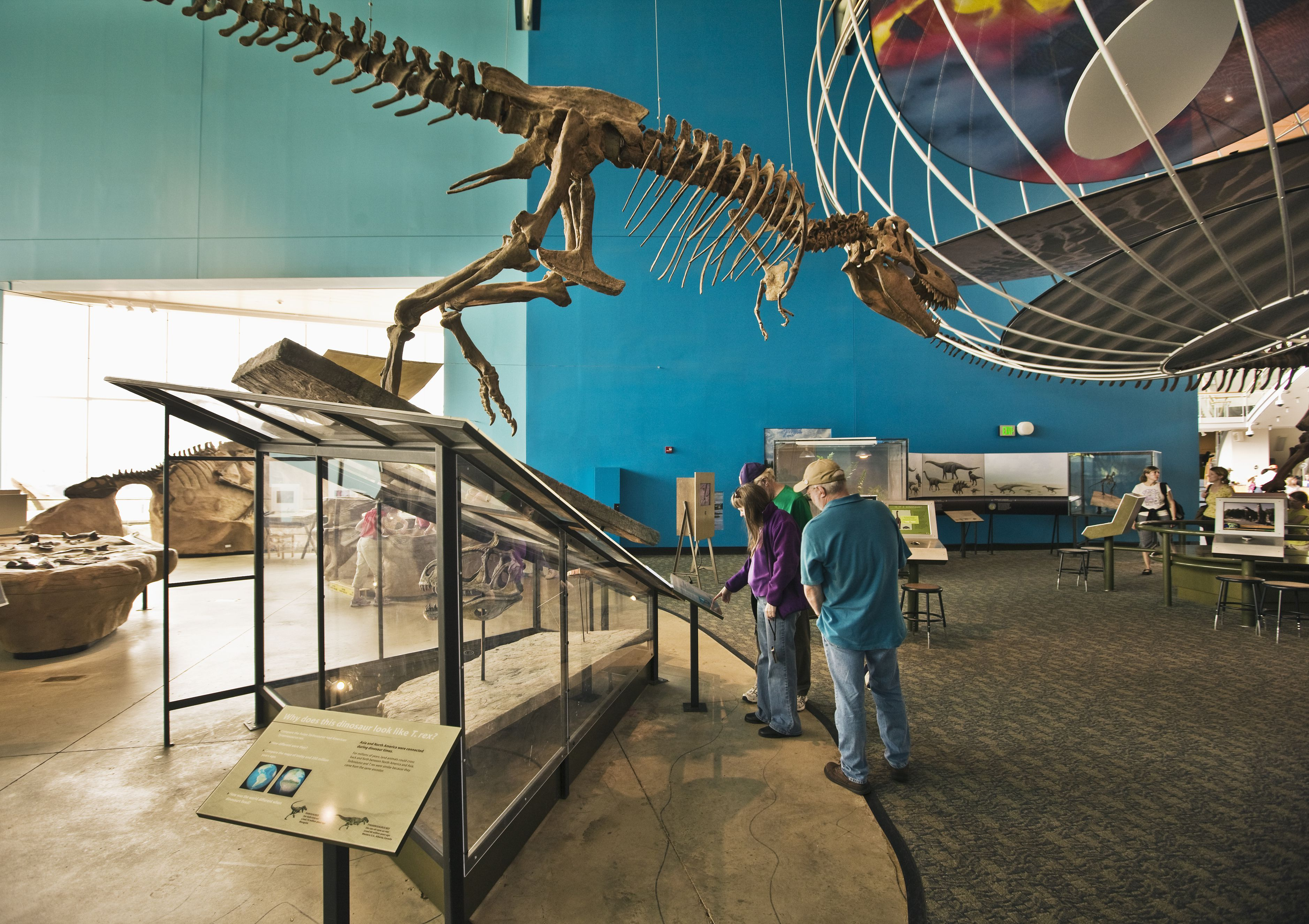 Tourists in the Maryland Science Center
