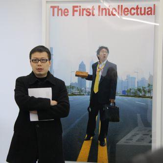 Leo Xu, head of Leo Xu Projects, in his gallery in Shanghai