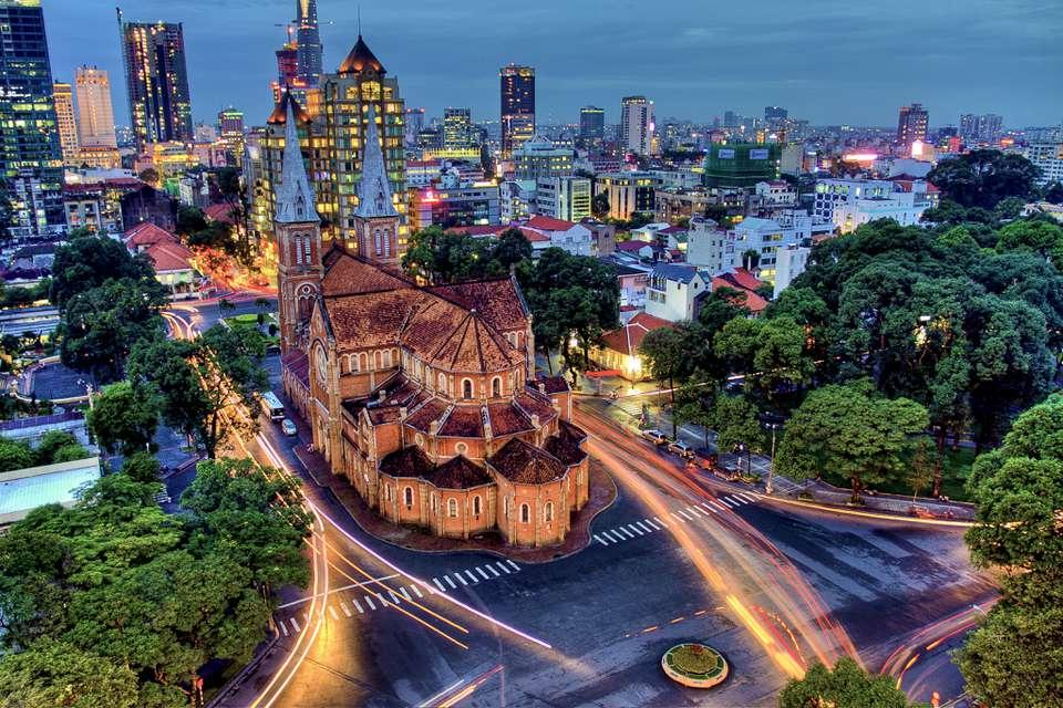 Ho Chi Minh City, Vietnam, at night