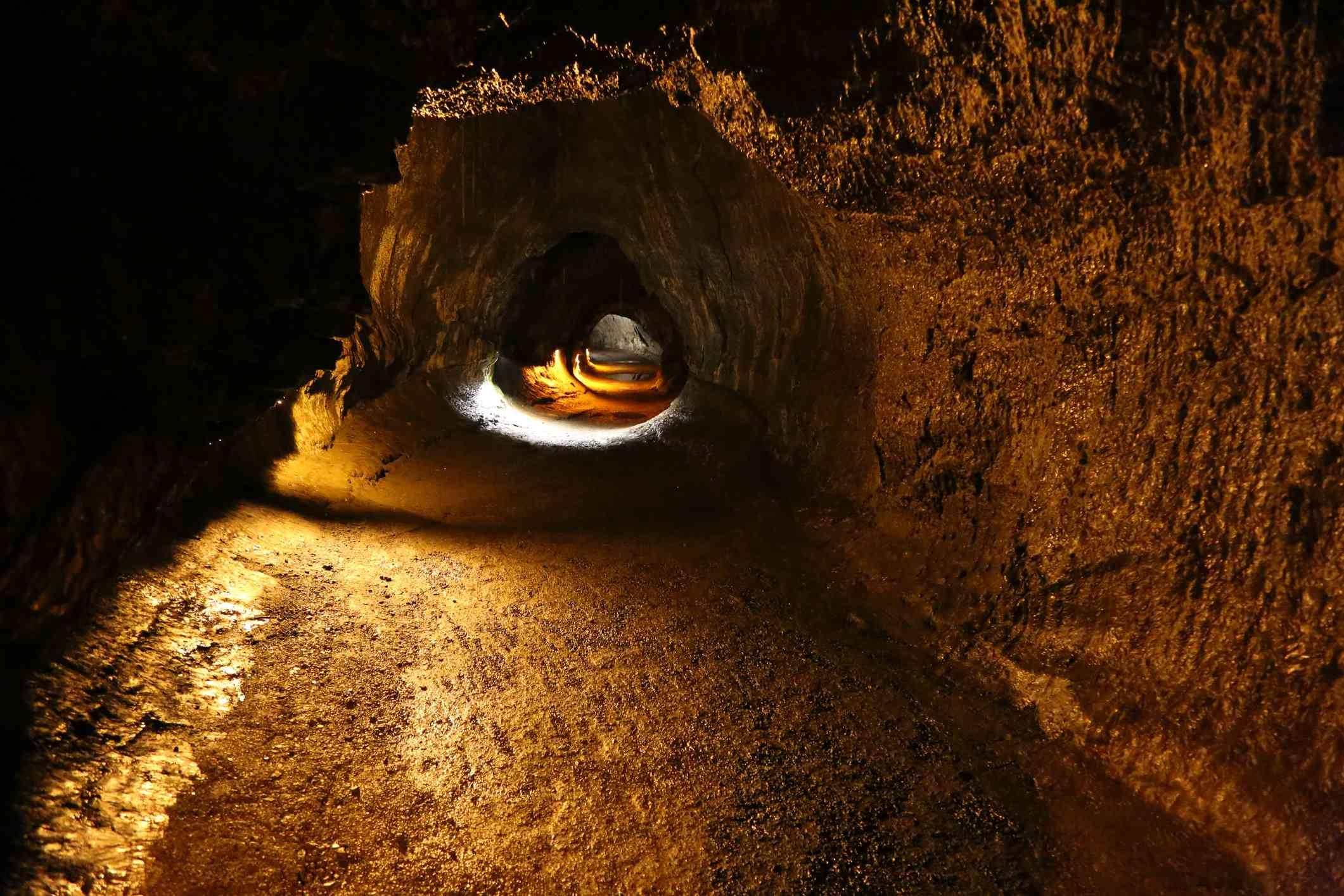Old lava tube on Big Island