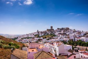 Whitewashed town of Arcos de la Frontera in Cadiz, Andalusia, Spain