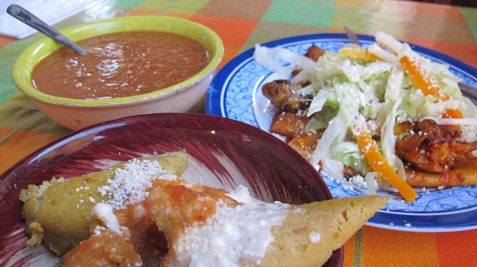 Food from Morelia: corundas, enchiladas