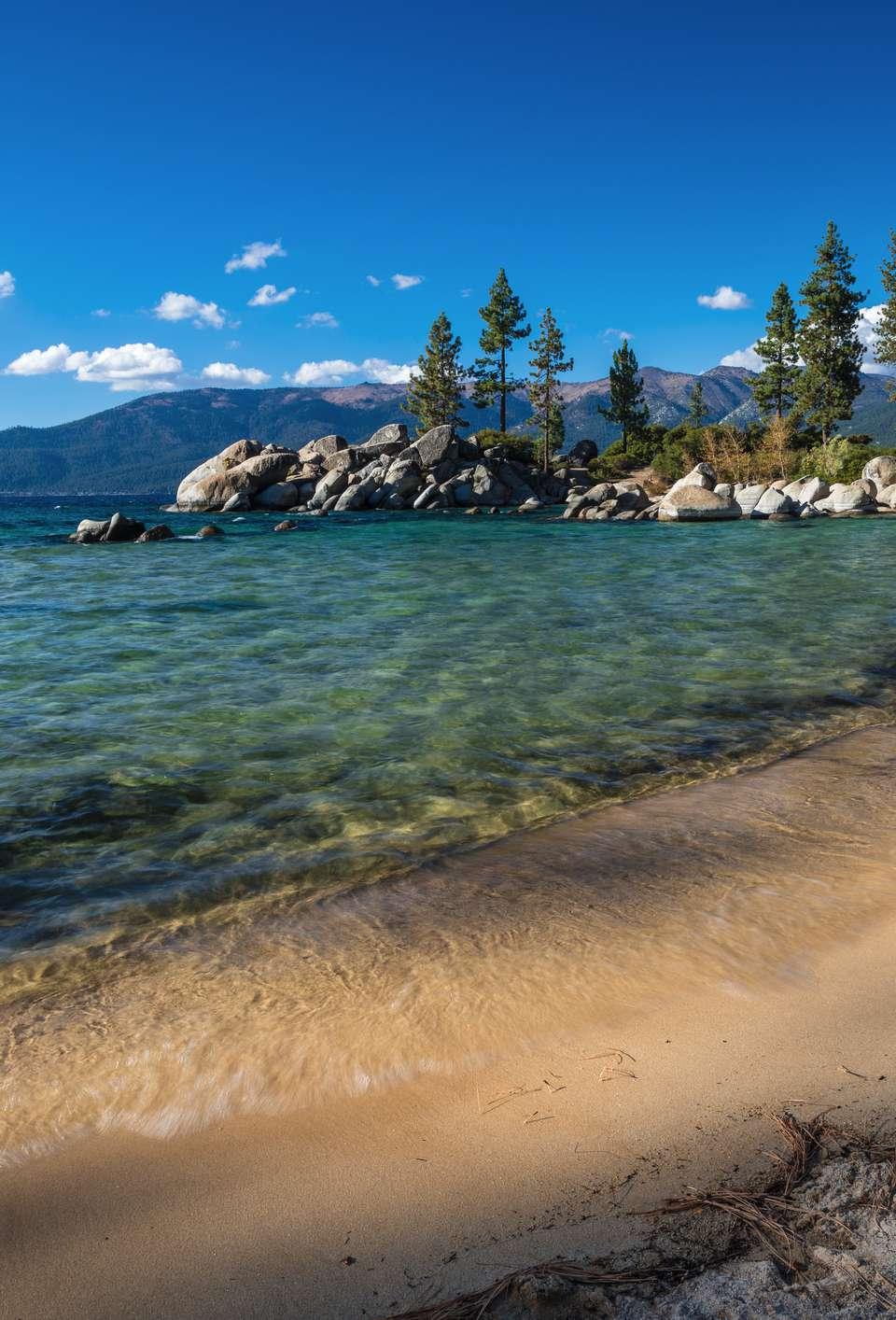 Scenic landscape of Sand Harbor State Park, Lake Tahoe, Nevada, USA