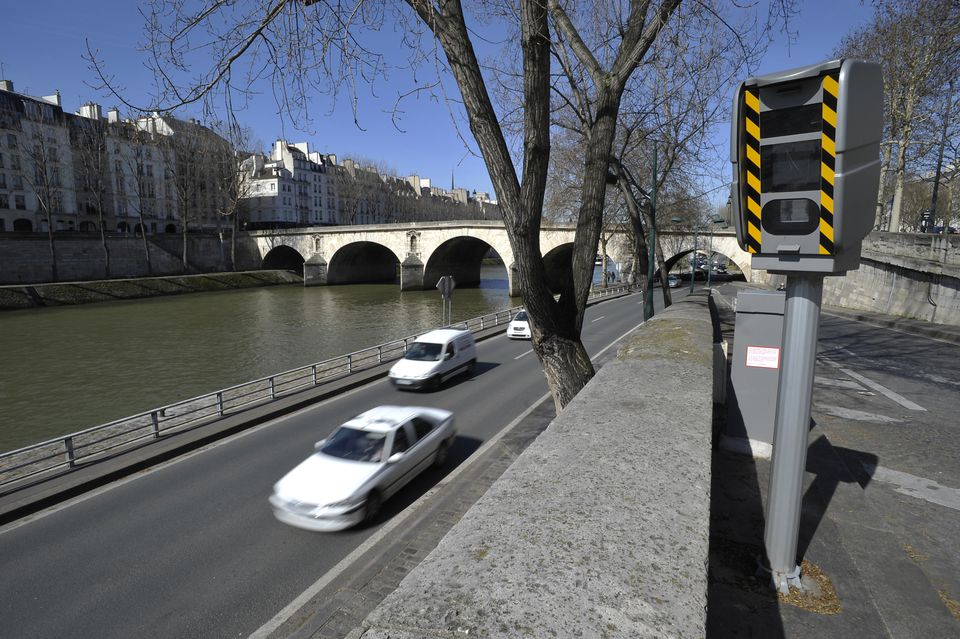 Speed Camera in Paris, France