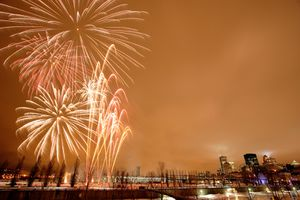 Montreal New Year's Eve 2018 fireworks.