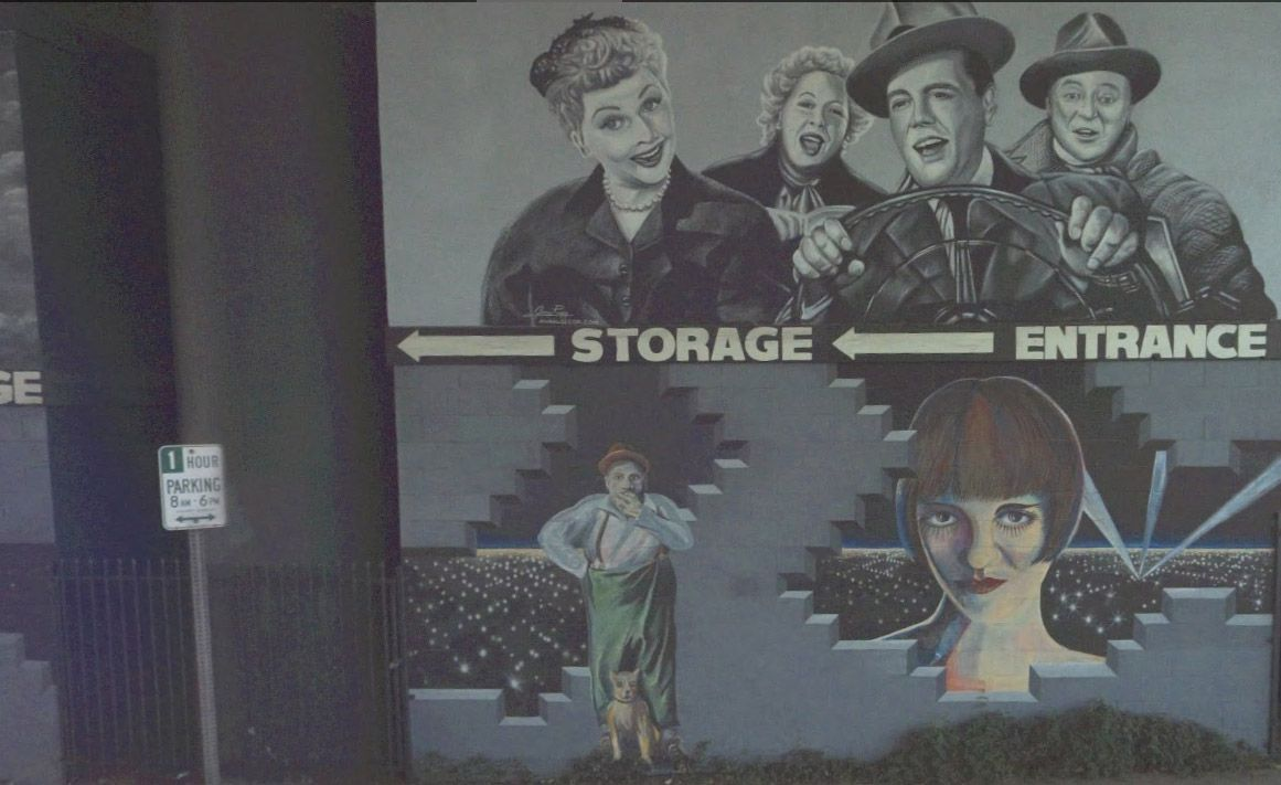 Louise Brooks Mural on Argyle