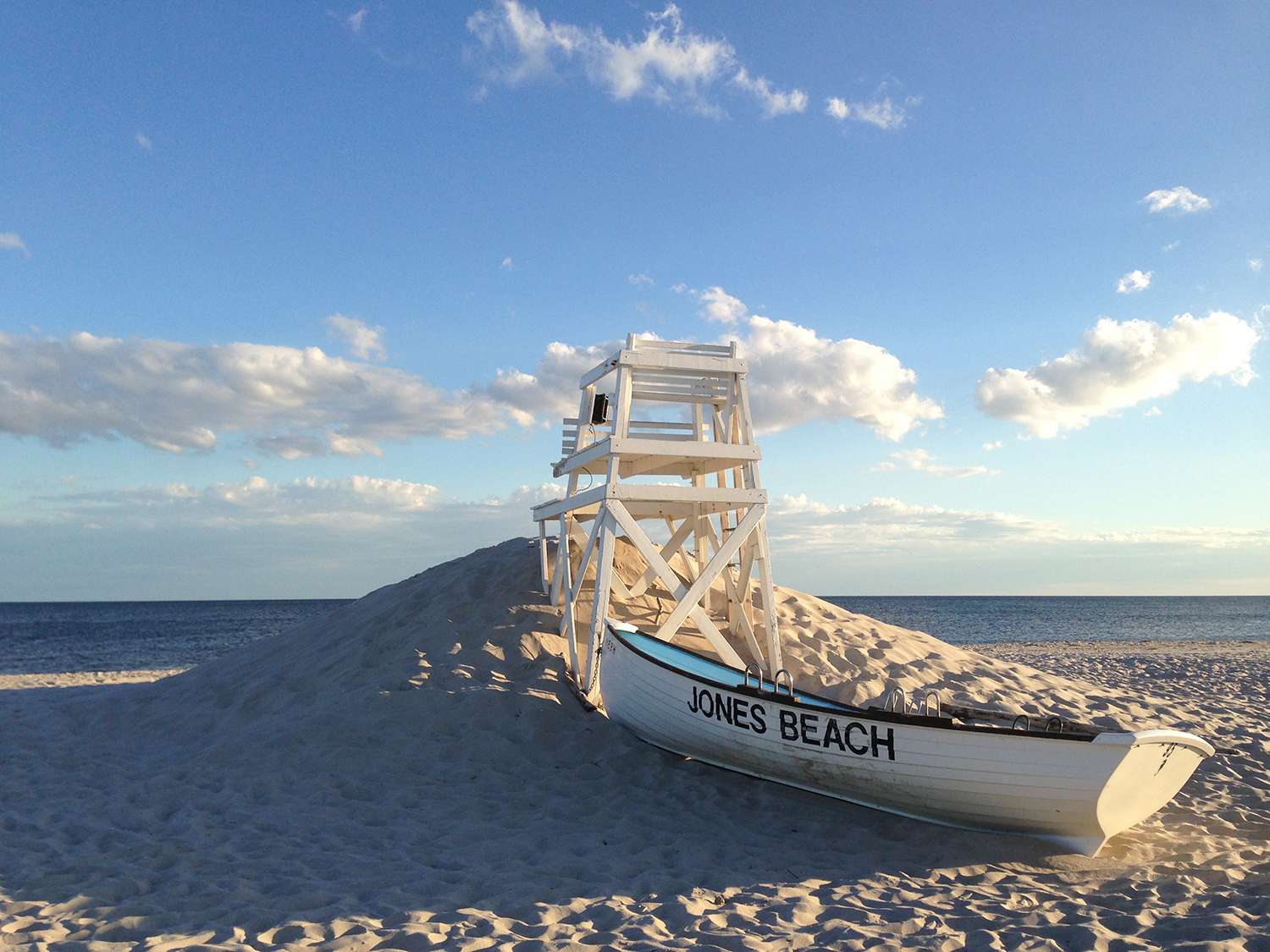 Jones Beach Lifeboat and Lifeguard Chair Landscape