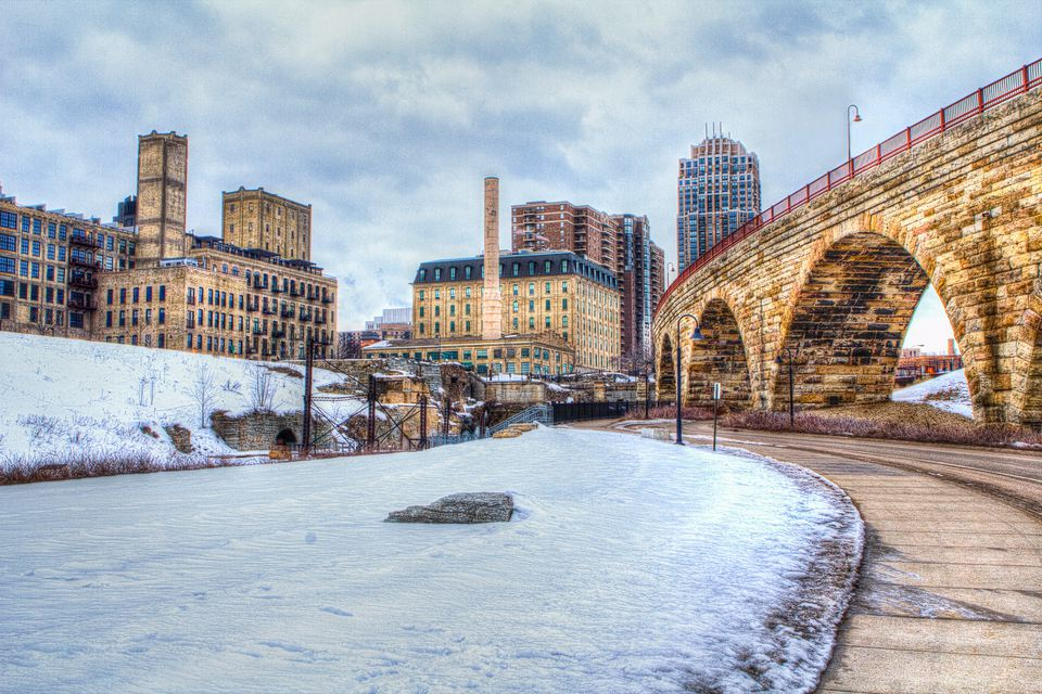 Minneapolis, Minnesota in the winter