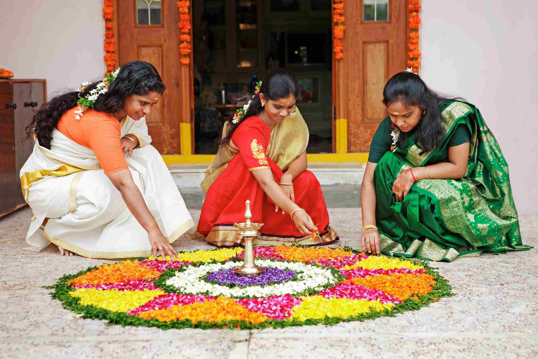 Onam in Kerala.