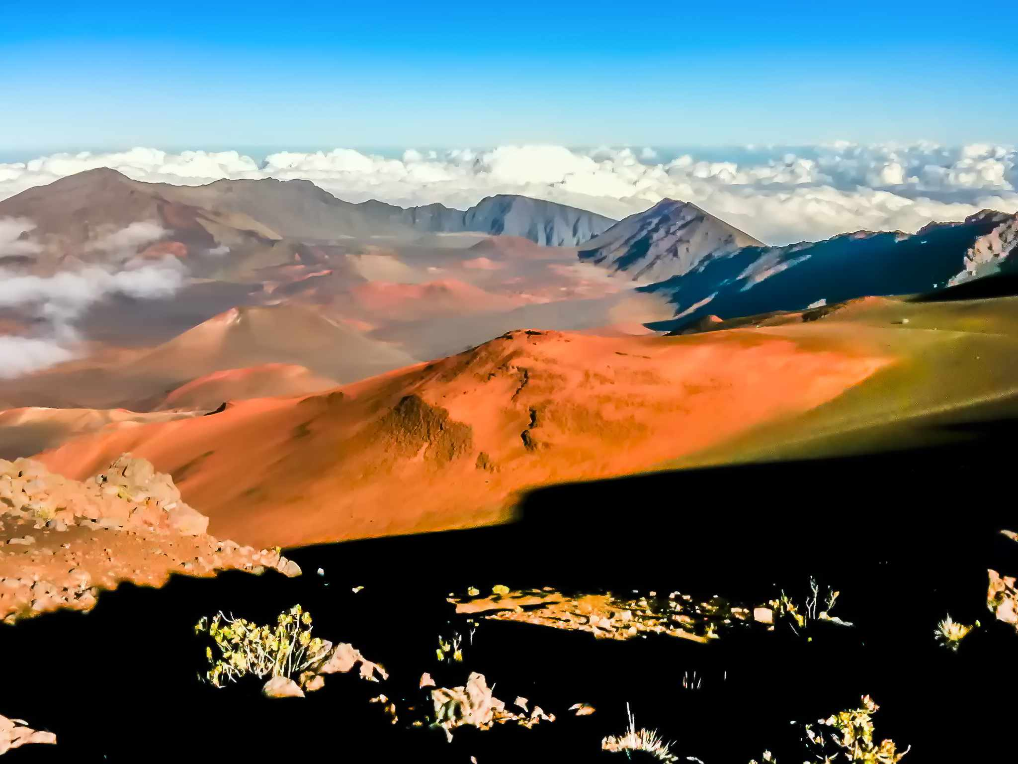 View over historic Haleakalā National Park