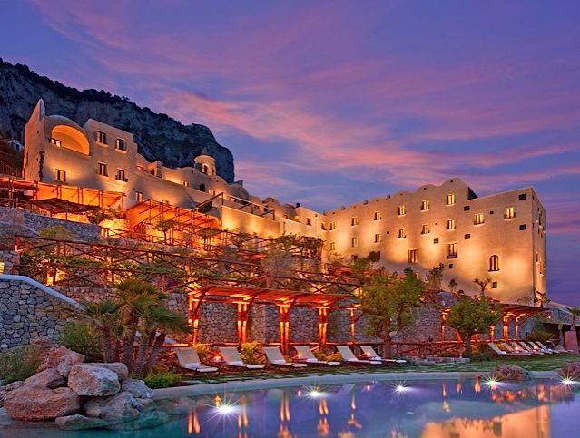 Monastero Santa Rosa On The Amalfi Coast Of Southern Italy