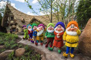 Seven Dwarfs at Mine Train ride in Disney World